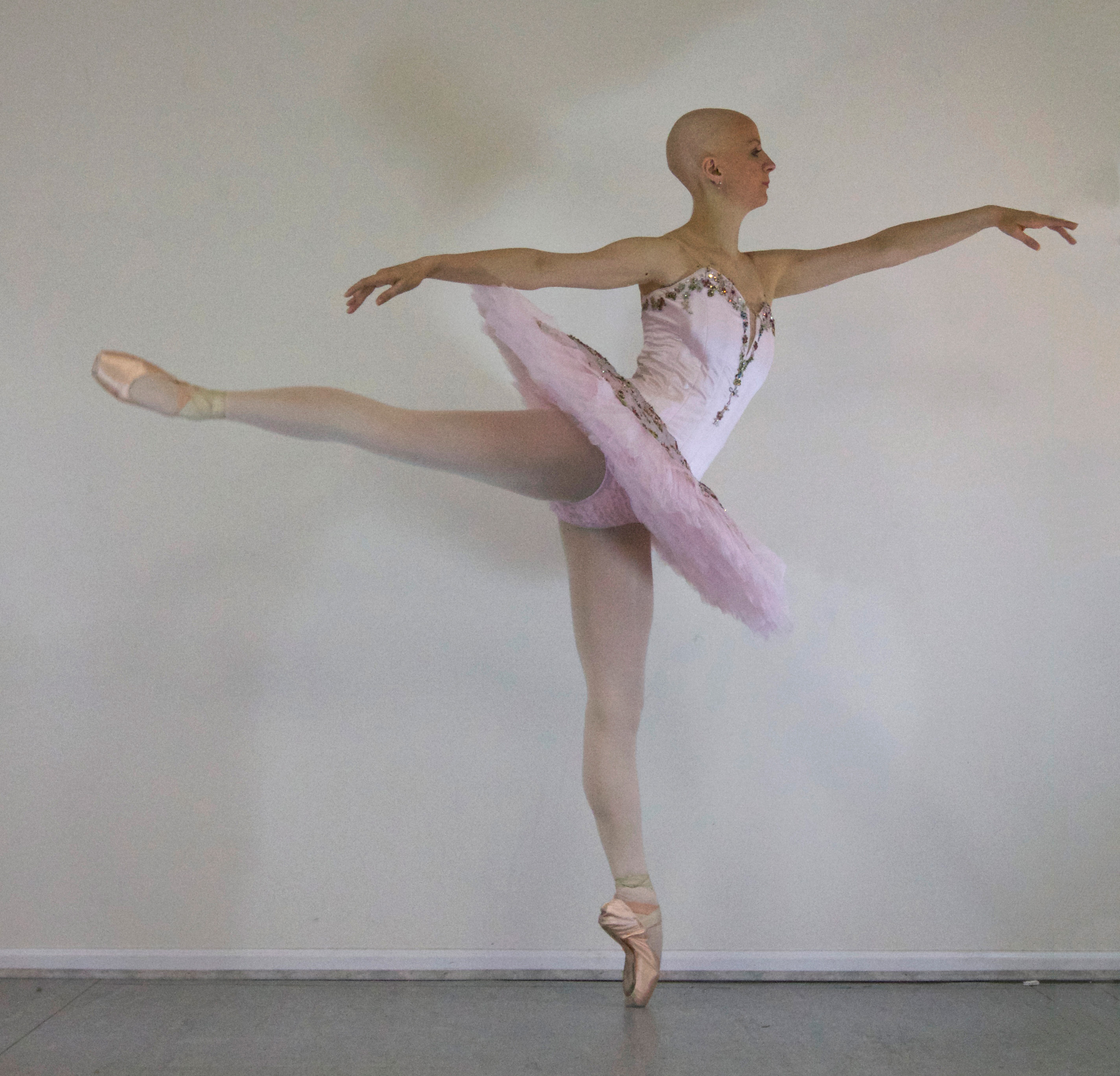 The Bald Ballerina's Turning Challenge