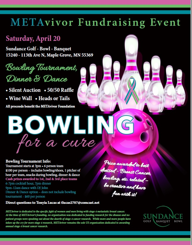 April 20th, 2019 Bowling for a Cure (Maple Grove, MN)